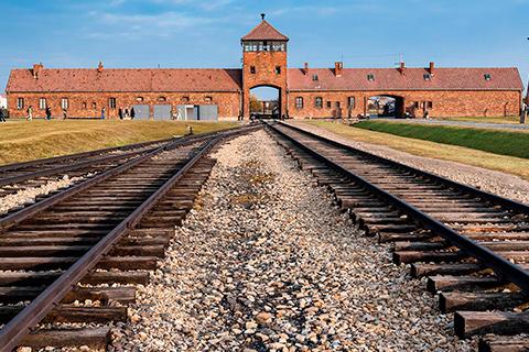 Indgang til Auschwitz