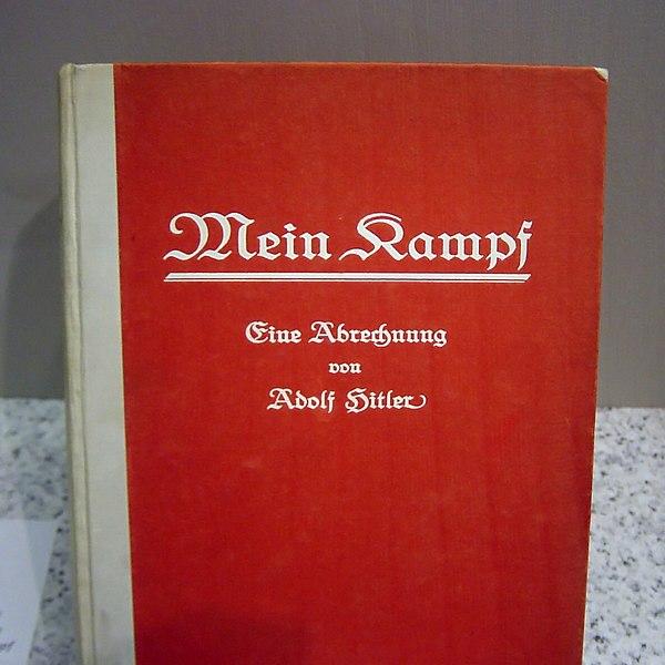 Førsteudgaven af Hitlers Mein Kampf fra 1925