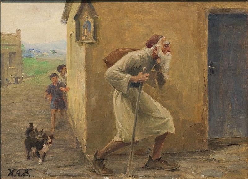 H.A. Brendekilde - Den evigt omvandrende jøde