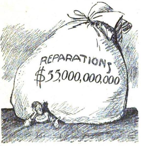 Amerikansk karikaturtegning fra 1921