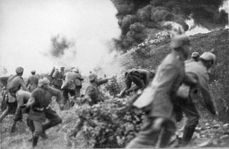 Billede fra slaget ved Verdun
