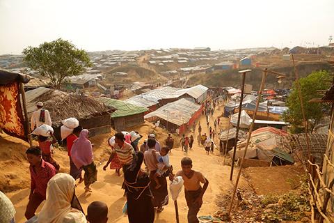 Billede af landsby i Myanmar