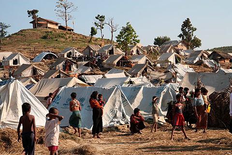 Lejr i Myanmar