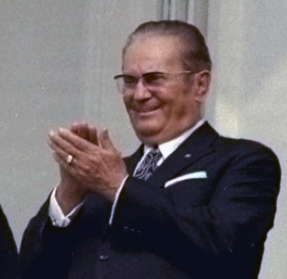 Tito i 1971 som han gerne ville huskes – smilende og alfaderlig (foto: Byron E. Schumaker)