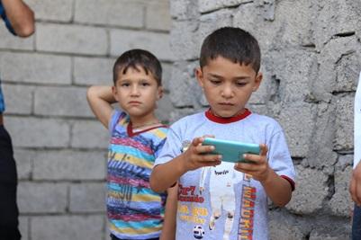 Portræt af to små drenge